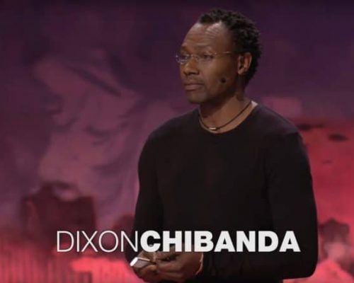 Dixon speaking at TED conference on the friendship bench